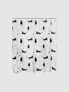 Cortina Baño Cats