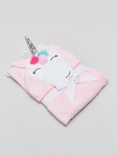 Toalla Capucha Kids Unicornio Rosa