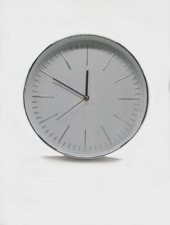 Reloj Pared Sleek Silver
