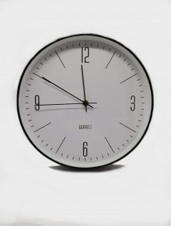 Reloj Pared Sleek Negro